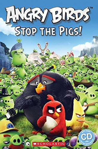 *小貝比的家*ANGRY BIRDS STOP THE PIGS L2/平裝書+CD/3~6歲