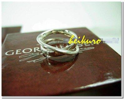 *黑酷黑店*【二手】台灣專櫃買的 Georg Jensen 喬治傑生銀戒--二號戒