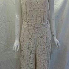精緻法國蕾絲連身褲裝 轉賣 米白/黑色