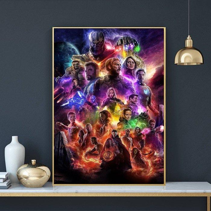 C - R - A - Z - Y - T - O - W - N 復仇者聯盟4:終局之戰Avengers: Endgame電影海報掛畫鋼鐵人驚奇隊長漫威掛畫