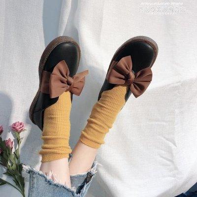 娃娃鞋豆豆鞋女2019春秋新款平底單鞋牛筋軟底小皮鞋蝴蝶結娃娃韓版百搭