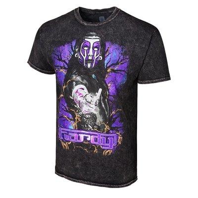 [美國瘋潮]正版WWE Jeff Hardy Obsolete Mineral Wash Tee 戰鬥臉譜水洗刷色款衣服