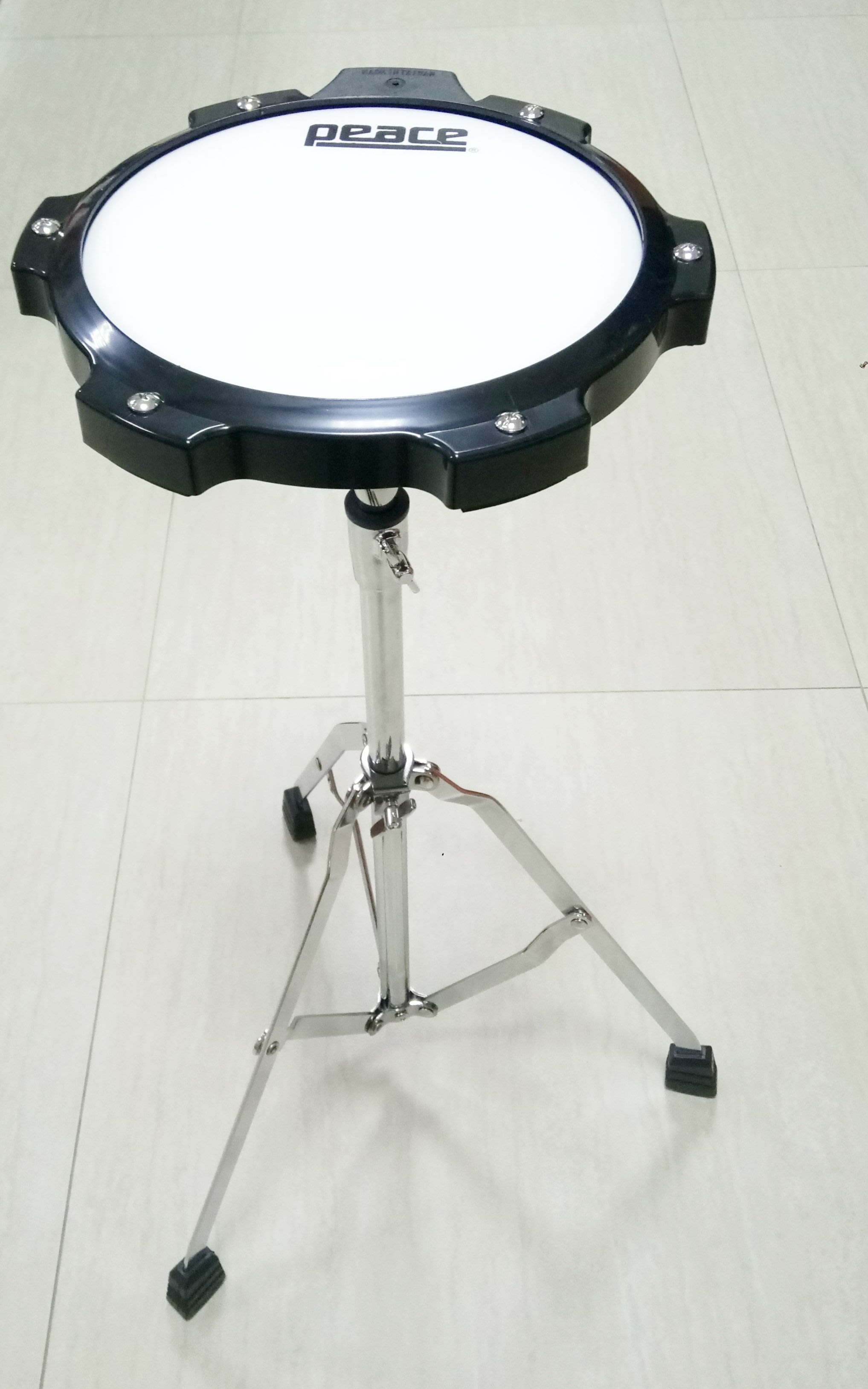 PEACE 8吋 爵士鼓打擊練習板+腳架 打點板 打擊墊 打擊板 台灣製造 【樂器城堡】