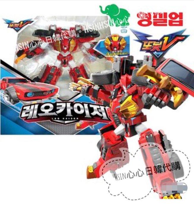 台北超取自取【Hsin】韓國宇宙奇兵 機器戰士 tobot v 第二季 紅色 獅子 老爺車 里歐 變形 機器人 玩具遊戲組
