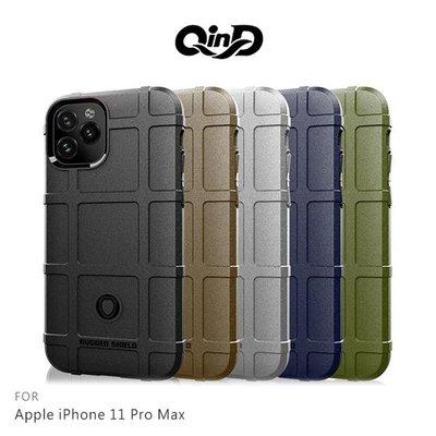 【愛瘋潮】QinD Apple iPhone 11 Pro Max 6.5吋 戰術護盾保護套 背蓋 TPU套 手機殼 保
