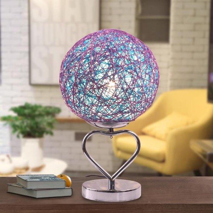 簡約現代創意小臺燈臥室床頭家用溫馨浪漫婚房床頭柜插電喂奶燈具