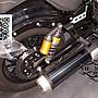 大型重機驗車排氣管防燙片 銀+11.4CM不銹鋼束環 YAMAHA BOLT 950 尺寸