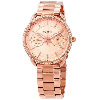 【換日線】女錶 Fossil Tailor Rose Gold Dial Ladies Multifunction Watch ES4264
