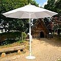 高級9呎玻璃纖維傘 拉繩式休閒傘撐開直徑約260公分 高240公分 戶外傘布可防撥水