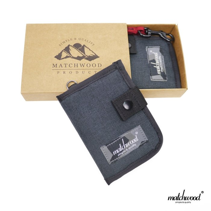 【Matchwood直營】Matchwood Element 零錢包 頸掛包 鑰匙包卡夾證件套 礦石灰紅款 超取免運優惠