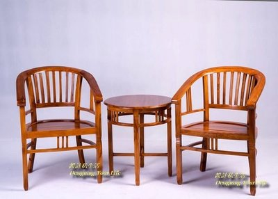 【DYL】柚木實木房間桌椅組、洽談桌椅(全館一律免運費)