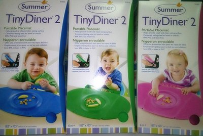 *安安生活館* 美國Summer Infant攜帶式防水學習餐墊 新款第二代 Tiny Diner 2 @綠色款