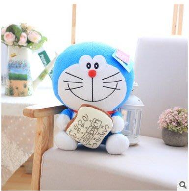 【便利公仔】含運 正品哆啦A夢公仔抱面包款機器貓毛絨玩具兒童男生生日禮物