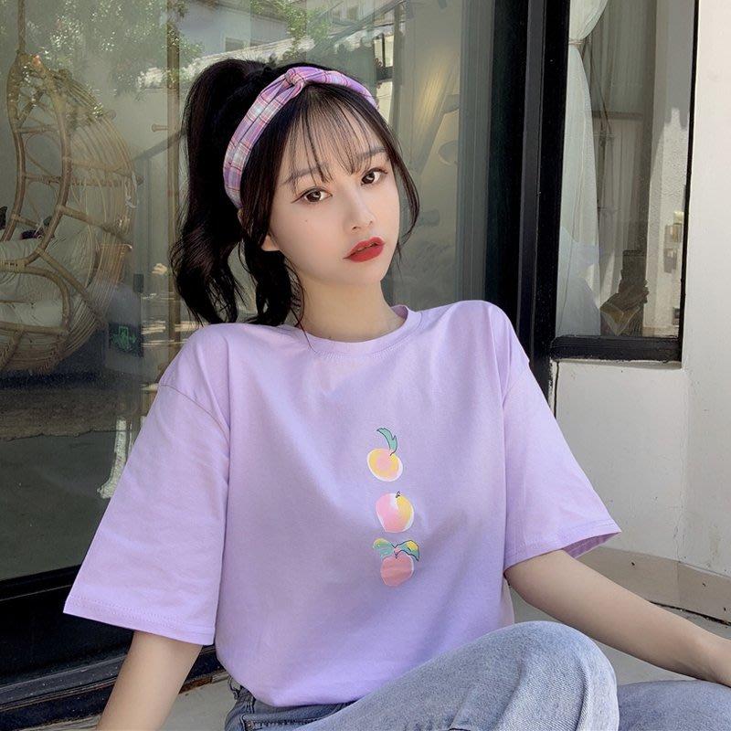 小香風 短袖T恤 時尚穿搭 韓版 網紅ins寬松大碼減齡印花百搭短袖T恤上衣女學生