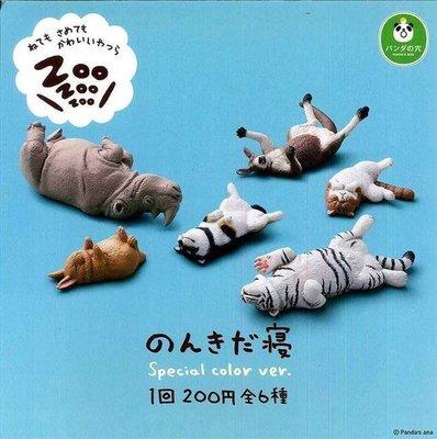 【動漫瘋】日本正版 代理 轉蛋 扭蛋 休眠動物園 P4 4代 特別色 一套6款 犀牛 老虎 袋鼠 貓 狗 兔 柴犬 公仔