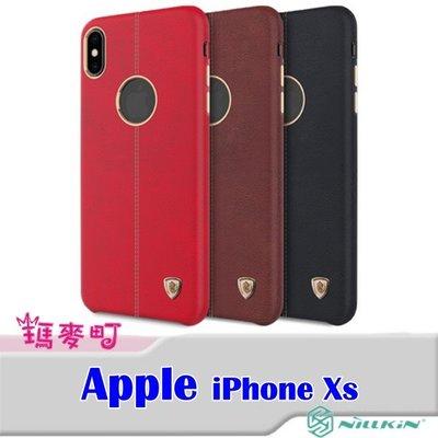 ☆瑪麥町☆ NILLKIN Apple iPhone Xs 英士保護殼 保護套 皮革 耐磨 電鍍