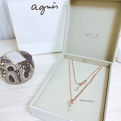 Agnes b. 愛心鑰匙 Logo 造型項鍊 短項鍊 飾品 送禮 附盒 附提袋