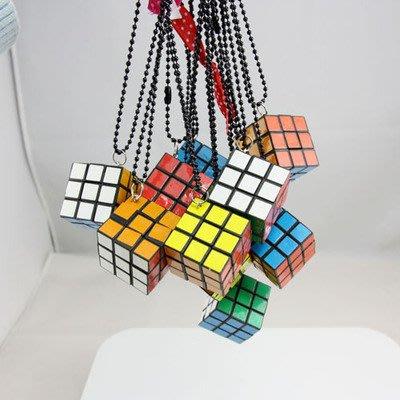 [C.M.平價精品館]現貨出清特價/別緻趣味魔術方塊蝴蝶結項鏈