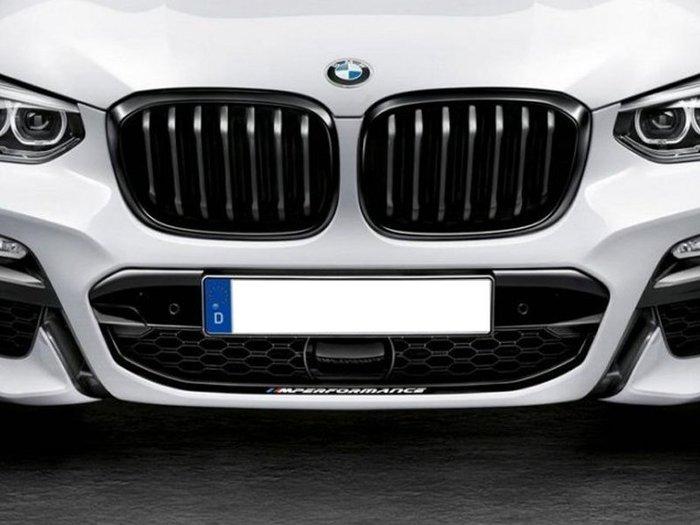 【樂駒】BMW G02 X4  原廠 M Performance 前氣壩貼 改裝 精品 空力 貼紙  加裝 套件