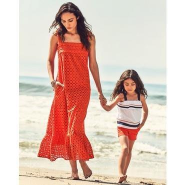 [全新真品美國購回] 美國童裝名牌Janie and Jack 海軍藍橘蝴蝶結小可愛褲裝套組 6T 成套不拆售 雜誌主打
