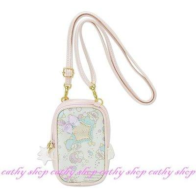 *凱西小舖*日本進口三麗歐正版KIKI LALA雙子星魔法泡泡系列可背式雙層收納/相機/手機袋
