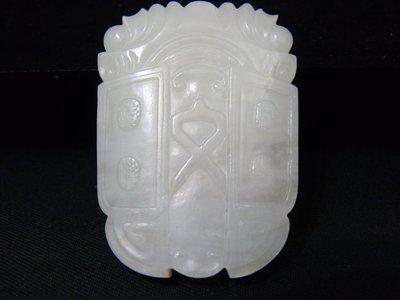 【玉格格】早期珍藏近脂級和闐白玉【 一鳴驚人 】6800  元低價起標 ~~~