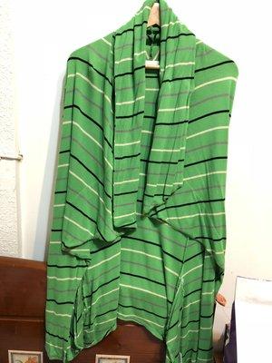 最後移民出清 專櫃Sly 綠色線條 直條 條紋 棉質垂墜外套