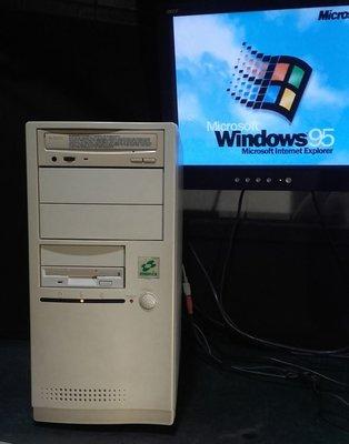 【窮人電腦】跑Win95系統!自組古董586遊戲或工業主機出清!雙北或桃園地區可親送!外縣可寄!
