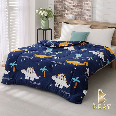 【現貨】超激厚法蘭絨暖暖被 侏儸紀 台灣製 150x200cm 毯被 毯子 毛毯  BEST寢飾
