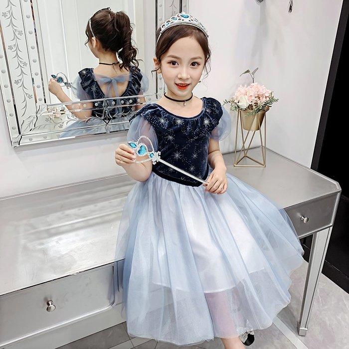 •*~ 辣媽咪衣飾小舖 ~*•❤童裝系列❤K060229韓版大童夏款甜美浪漫小女孩超仙網紗公主裙洋裝