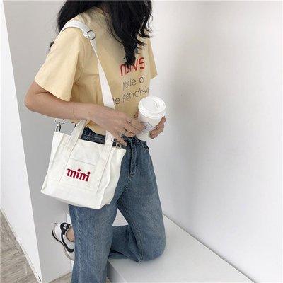 斜背包 字母 迷你 小方包 手提包 帆布包 斜背包 環保購物袋【SPC35】