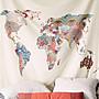 掛布 掛毯 北歐風地圖系列掛布掛毯壁毯背景...