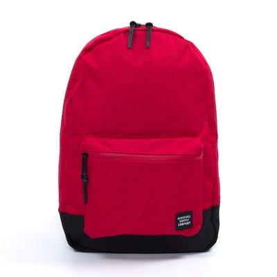 Herschel Settlement 紅色 正紅 黑色 防水拉鍊 大容量 筆電夾層 帆布 後背包 [現貨]