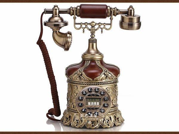 凱西美屋 典雅復古皇冠電話 鄉村風 田園風 古典電話機