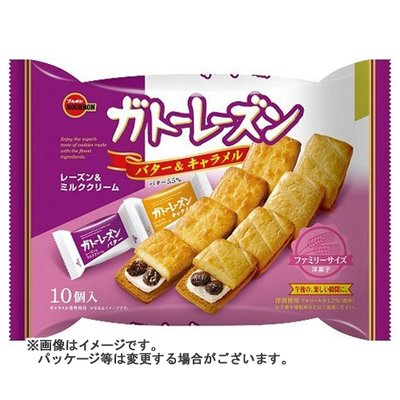 +東瀛go+ BOURBON 北日本 葡萄乾夾心餅乾 焦糖奶油夾心 10枚入 日本原裝進口 日本餅乾 拜拜
