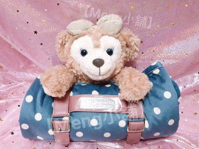 【Meng小舖】日本東京海洋迪士尼  Shelliemay 雪莉玫 可揹式造型收納毛毯 雪莉玫玩偶毛毯