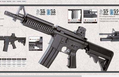 JHS((金和勝 生存遊戲專賣))KWC 台灣製造 M4CQB 空氣槍 6091
