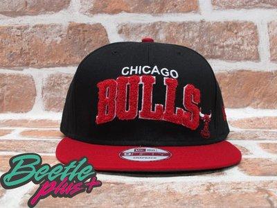 BEETLE PLUS  全新 NEW ERA NBA 芝加哥 CHICAGO 公牛 SNAPBACK  BULLS 黑紅 絨毛 立體字 後扣棒球帽