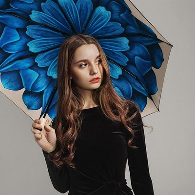 5Cgo【鴿樓】會員有優惠 24875700842 BANANA UNDER蕉下小黑傘藍槿遮陽防曬防紫外線太陽晴雨傘 手