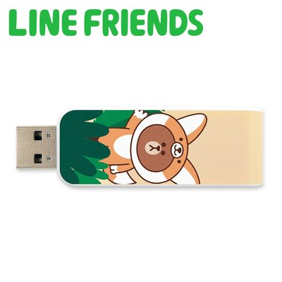 Apacer Line Friends AH334-64GB伸縮隨身碟(熊大狐狸裝)聯名授權碟 嘉義縣