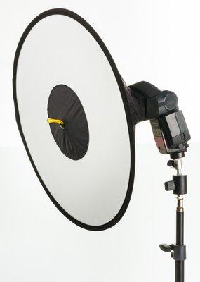 呈現攝影-Meking 圓錐環型柔光罩 44cm  柔光片 外閃型用 無影罩 機頂 工作室 活動