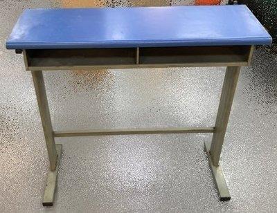 宏品二手傢俱館 台中2手家具賣場 E50312*藍色2人課桌椅*補習班桌椅 學生桌椅 兒童桌椅 大學椅 排椅 等待椅