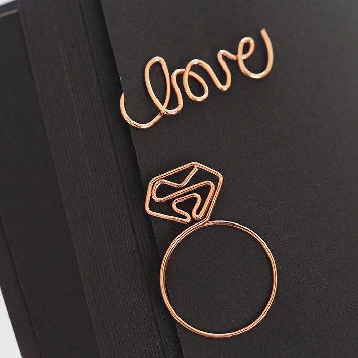 創意 精緻不銹鋼玫瑰金屬創意書簽畢業禮品學生簡約可愛diy書簽