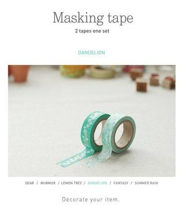 【R的雜貨舖】紙膠帶分裝 Dailylike Masking tape 紙膠帶 19 Dandelion 蒲公英