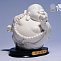 傳藝工坊 -  『財源廣進』(小) 白瓷彌勒 陶瓷...