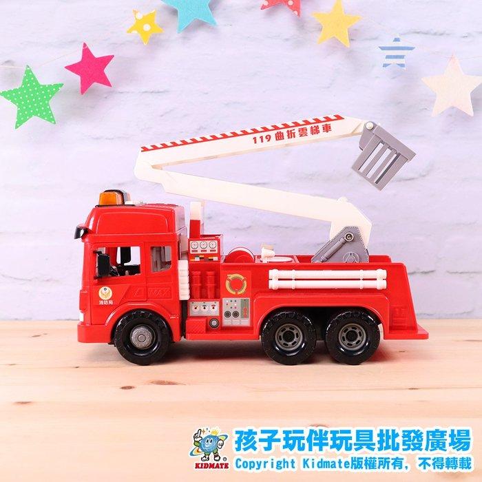 磨輪曲折雲梯車.台灣好車隊.消防系列.磨輪車.仿真.孩子玩伴