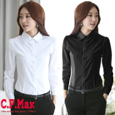CPMAX 女襯衫 雪紡襯衫 女上班襯衫 女長袖襯衫 女商務襯衫 面試襯衫 OL襯衫 白襯衫 面試襯衫【W06】