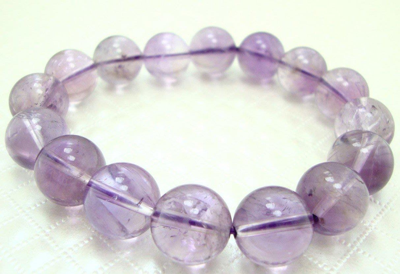 [天祥水晶]~天然紫晶紫水晶手珠手鍊12mm圓珠紫羅蘭紫水晶~