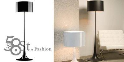 【58街燈飾-台北館】義大利設計師款式「Spun F鋁罩落地燈,鋼烤」。複刻版。GU-057