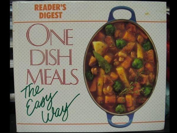 全新絕版英文原文食譜【One Dish Meal】,只要煮一鍋就可全家吃喔!原價一千六百元以上!低價起標無底價!免運
